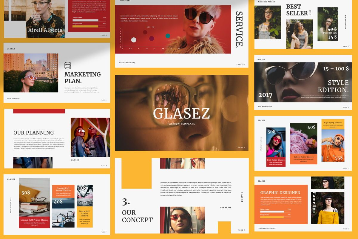 Glasez Creative Keynote, 06075, Presentation Templates — PoweredTemplate.com