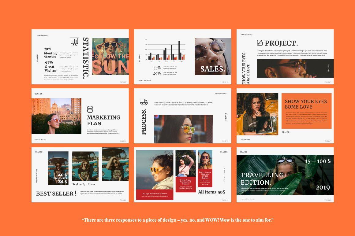 Glasez Creative Google Slide, Slide 2, 06076, Presentation Templates — PoweredTemplate.com