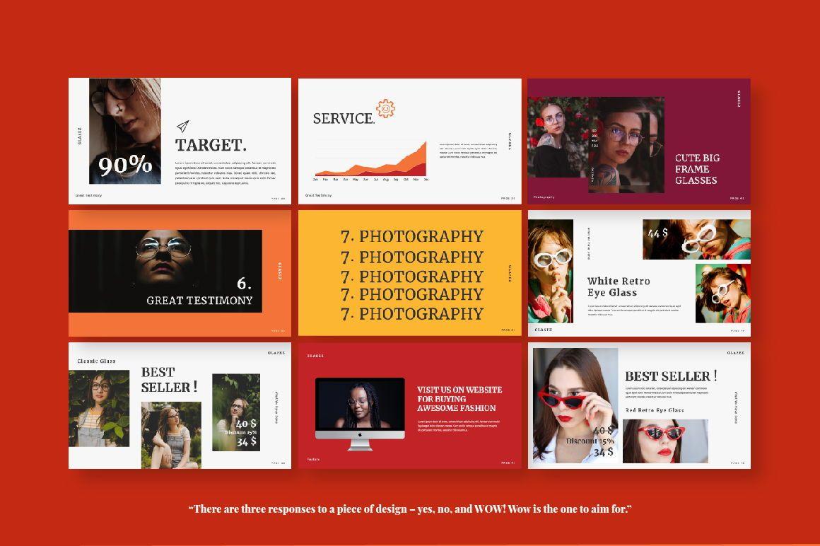 Glasez Creative Google Slide, Slide 3, 06076, Presentation Templates — PoweredTemplate.com