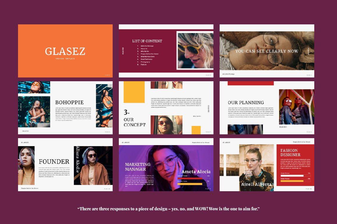 Glasez Creative Google Slide, Slide 6, 06076, Presentation Templates — PoweredTemplate.com