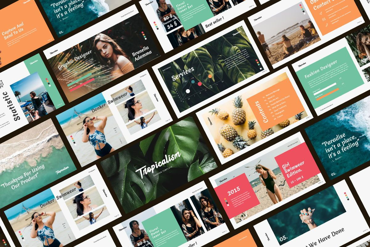 Tropicalism Business Powerpoint, 06077, Presentation Templates — PoweredTemplate.com