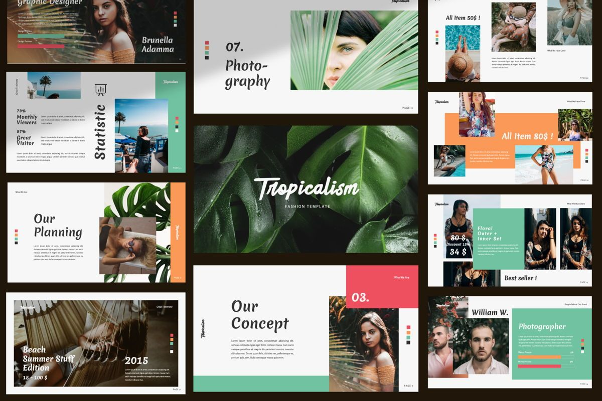 Tropicalism Business Powerpoint, Slide 8, 06077, Presentation Templates — PoweredTemplate.com