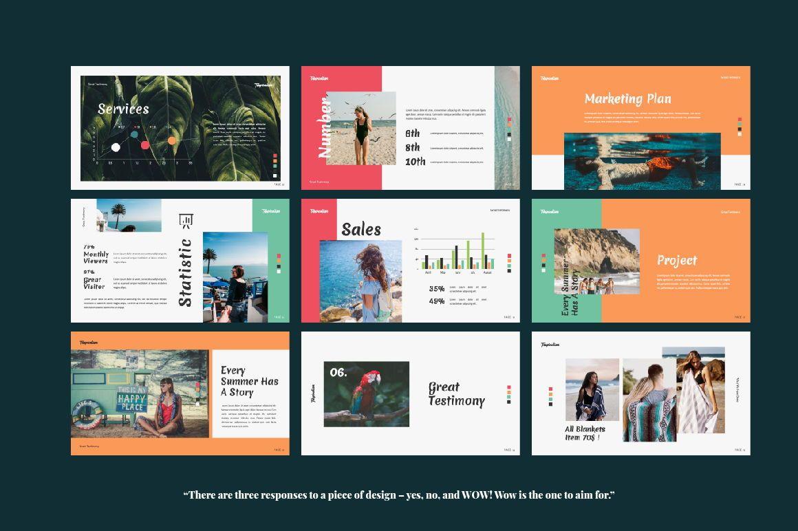 Tropicalism Business Keynote, Slide 2, 06078, Presentation Templates — PoweredTemplate.com