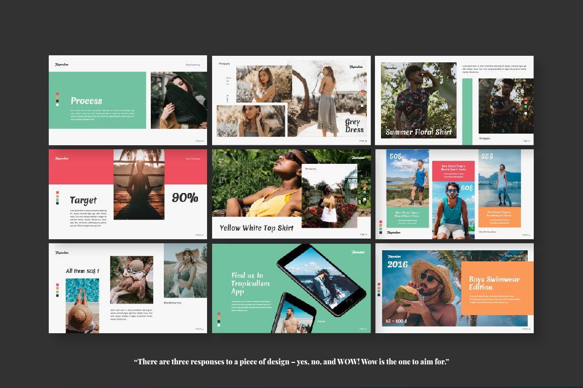 Tropicalism Business Keynote, Slide 3, 06078, Presentation Templates — PoweredTemplate.com