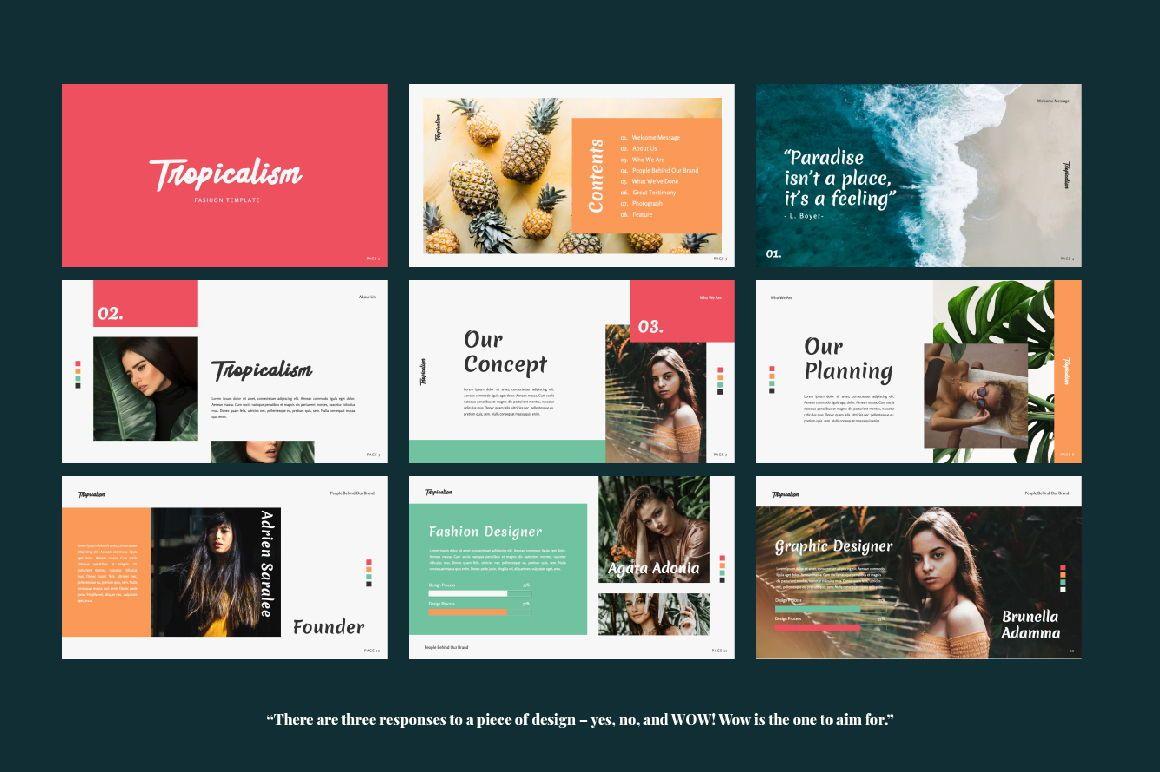Tropicalism Business Keynote, Slide 6, 06078, Presentation Templates — PoweredTemplate.com