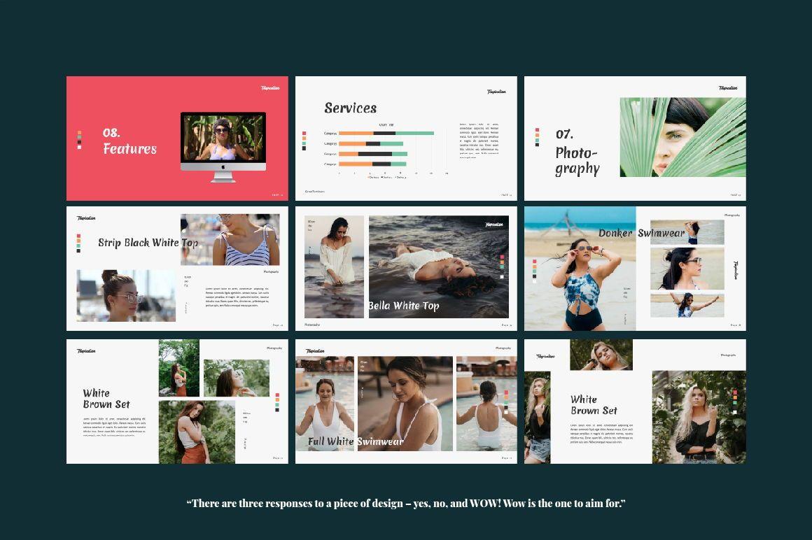 Tropicalism Business Google Slide, Slide 5, 06079, Presentation Templates — PoweredTemplate.com