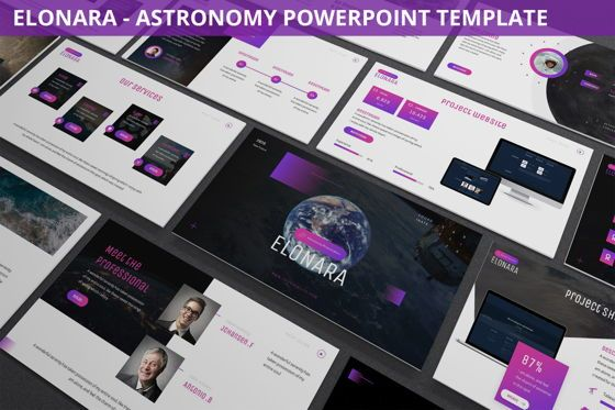 Data Driven Diagrams and Charts: Elonara - Astronomy Powerpoint Template #06080