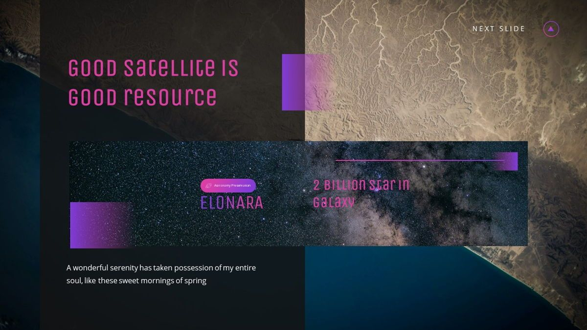 Elonara - Astronomy Powerpoint Template, Slide 14, 06080, Diagrammi e Grafici con Dati — PoweredTemplate.com