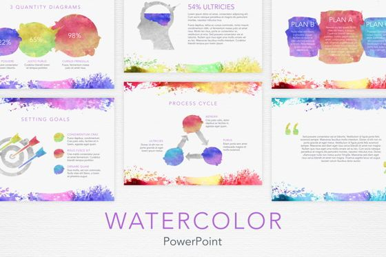 Presentation Templates: Watercolor PowerPoint Template #06082