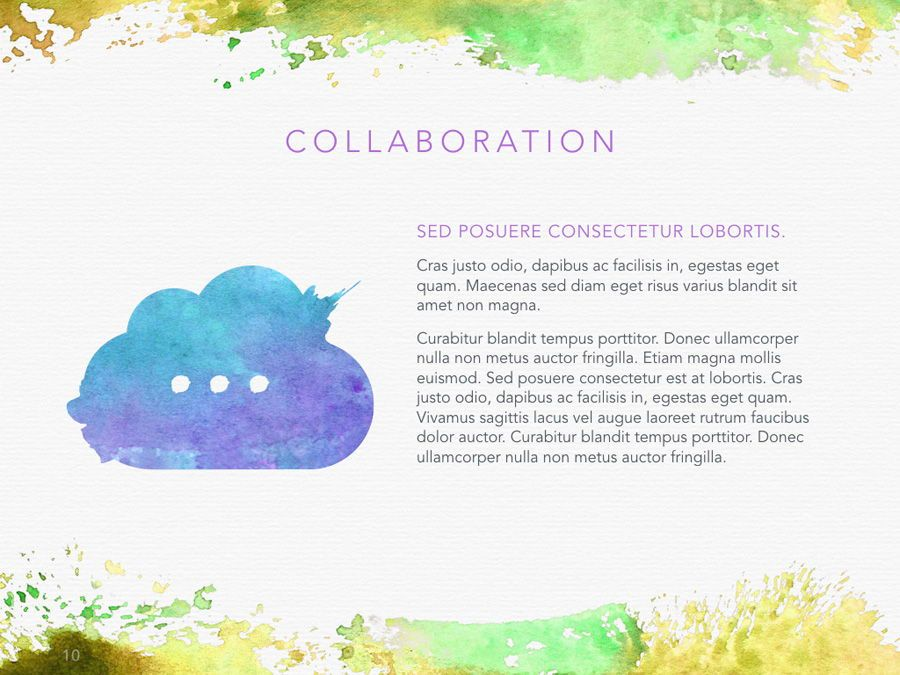 Watercolor PowerPoint Template, Slide 11, 06082, Presentation Templates — PoweredTemplate.com