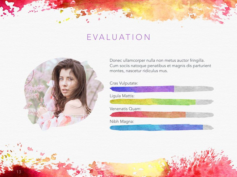 Watercolor PowerPoint Template, Slide 14, 06082, Presentation Templates — PoweredTemplate.com