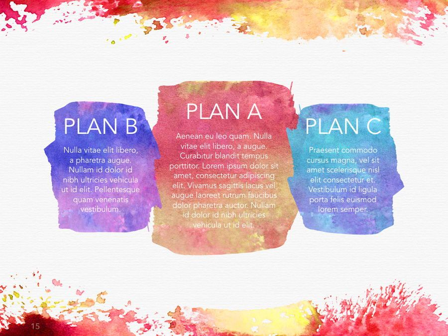 Watercolor PowerPoint Template, Slide 16, 06082, Presentation Templates — PoweredTemplate.com