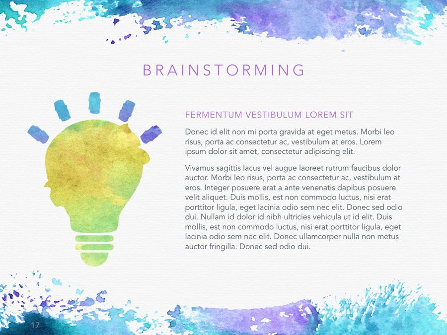 Watercolor PowerPoint Template, Slide 18, 06082, Presentation Templates — PoweredTemplate.com