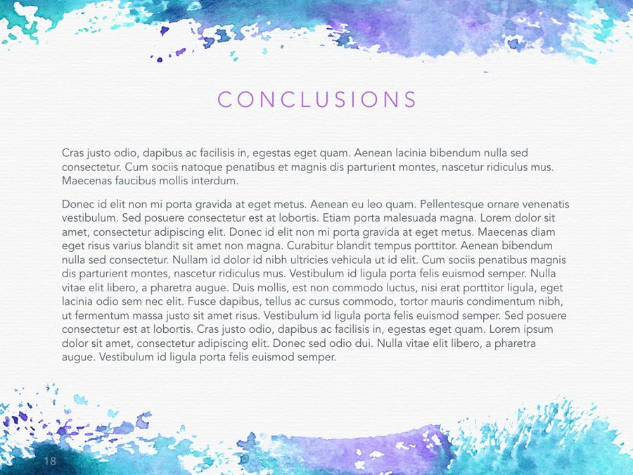 Watercolor PowerPoint Template, Slide 19, 06082, Presentation Templates — PoweredTemplate.com