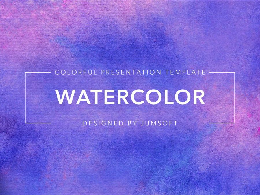 Watercolor PowerPoint Template, Slide 2, 06082, Presentation Templates — PoweredTemplate.com