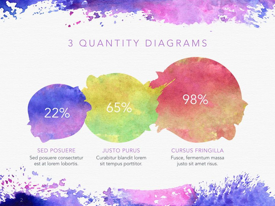 Watercolor PowerPoint Template, Slide 3, 06082, Presentation Templates — PoweredTemplate.com