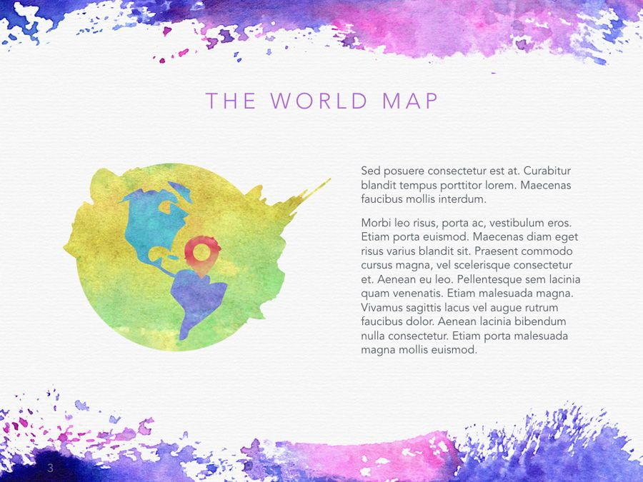 Watercolor PowerPoint Template, Slide 4, 06082, Presentation Templates — PoweredTemplate.com