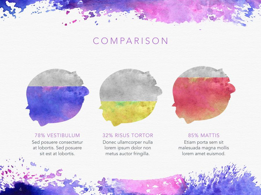 Watercolor PowerPoint Template, Slide 5, 06082, Presentation Templates — PoweredTemplate.com