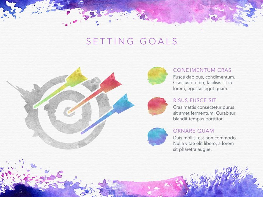 Watercolor PowerPoint Template, Slide 6, 06082, Presentation Templates — PoweredTemplate.com