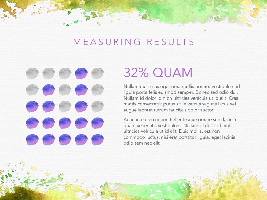 Watercolor PowerPoint Template, Slide 7, 06082, Presentation Templates — PoweredTemplate.com