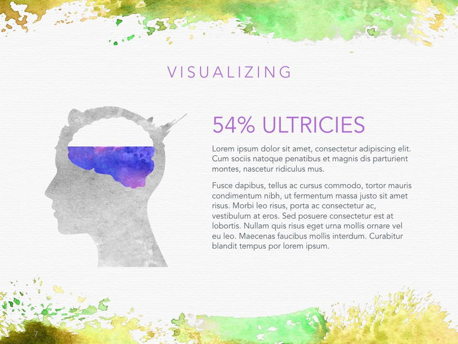 Watercolor PowerPoint Template, Slide 8, 06082, Presentation Templates — PoweredTemplate.com
