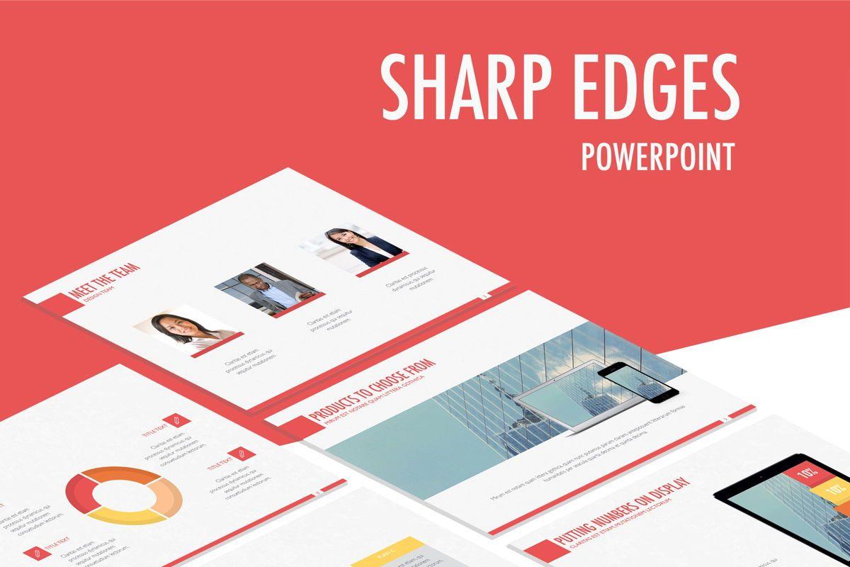 Sharp Edges PowerPoint Template, 06084, Presentation Templates — PoweredTemplate.com