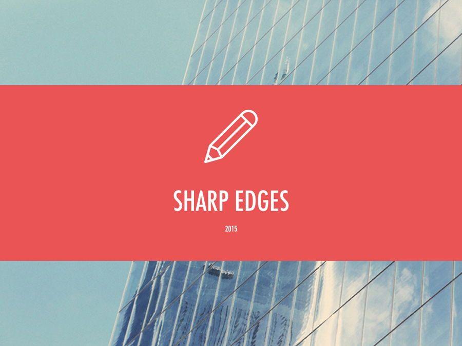 Sharp Edges PowerPoint Template, Slide 2, 06084, Presentation Templates — PoweredTemplate.com
