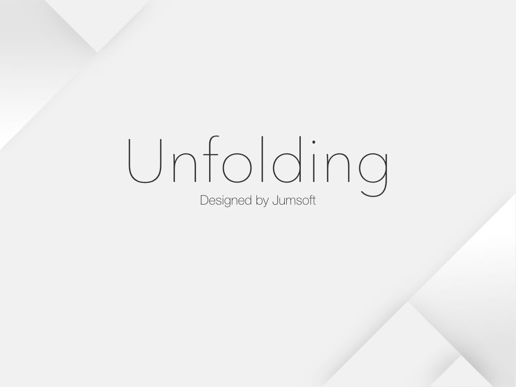 Unfolding Keynote Template, Slide 3, 06086, Presentation Templates — PoweredTemplate.com