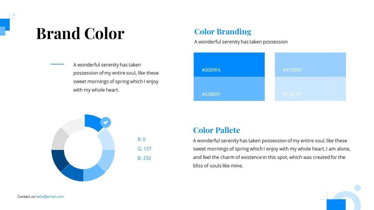 Gloria - Brandbook Powerpoint Template, Slide 15, 06087, Presentation Templates — PoweredTemplate.com