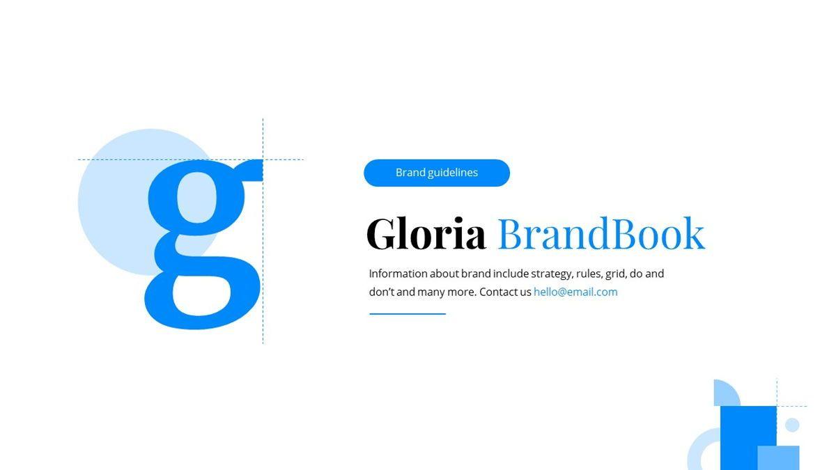 Gloria - Brandbook Powerpoint Template, Slide 2, 06087, Presentation Templates — PoweredTemplate.com