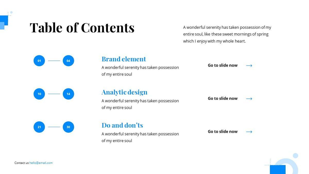 Gloria - Brandbook Powerpoint Template, Slide 4, 06087, Presentation Templates — PoweredTemplate.com