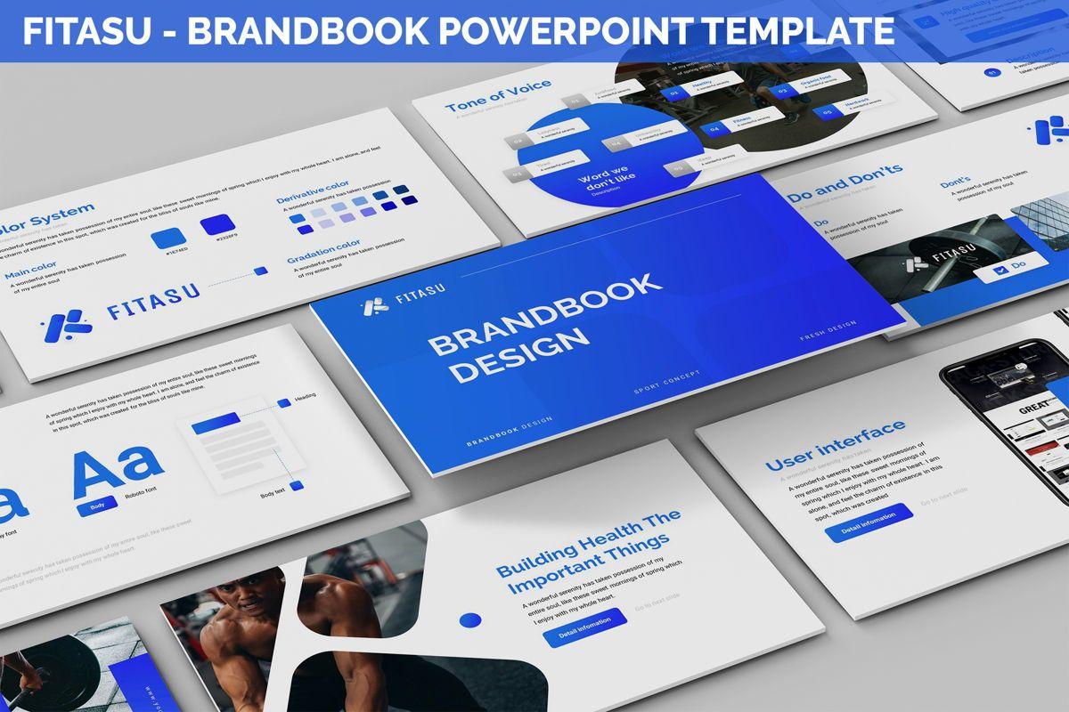 Fitasu - Brandbook Powerpoint Template, 06088, Icons — PoweredTemplate.com