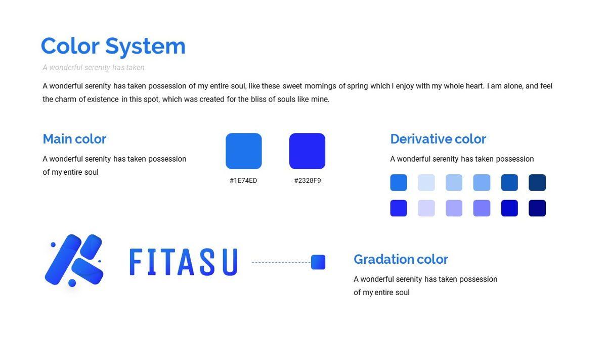 Fitasu - Brandbook Powerpoint Template, Slide 14, 06088, Icons — PoweredTemplate.com