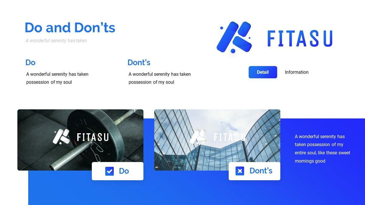 Fitasu - Brandbook Powerpoint Template, Slide 18, 06088, Icons — PoweredTemplate.com