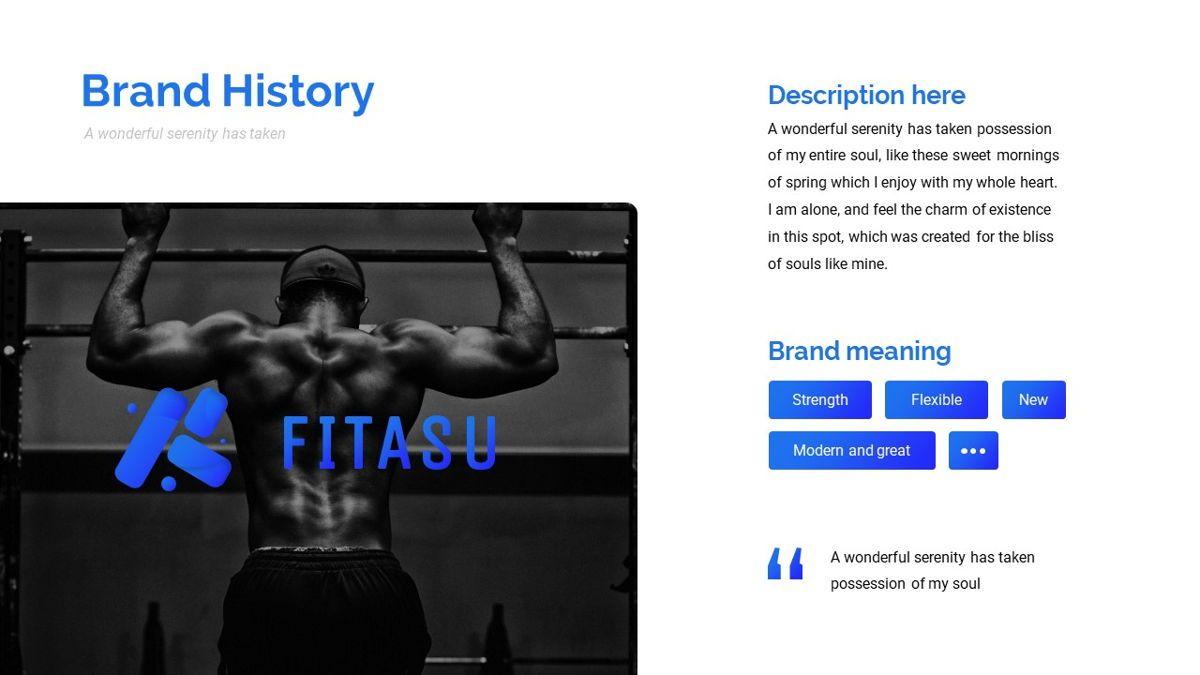Fitasu - Brandbook Powerpoint Template, Slide 7, 06088, Icons — PoweredTemplate.com