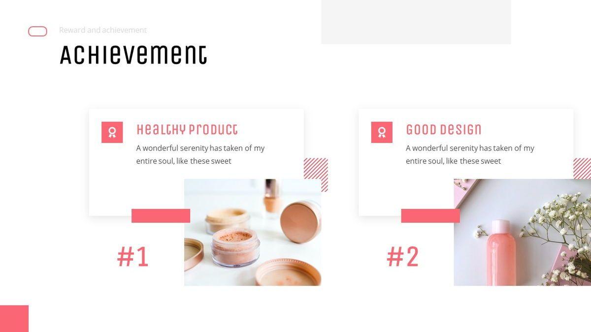 Uniqua - Cosmetics Powerpoint Template, Slide 14, 06089, Data Driven Diagrams and Charts — PoweredTemplate.com