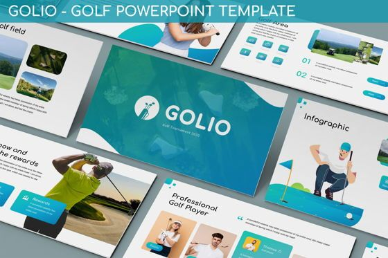 Data Driven Diagrams and Charts: Golio - Golf Powerpoint Template #06090