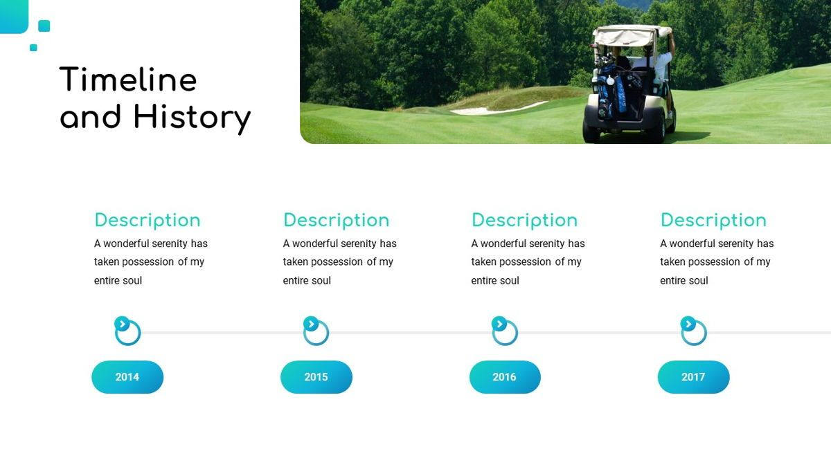 Golio - Golf Powerpoint Template, Diapositiva 10, 06090, Diagramas basados en datos — PoweredTemplate.com