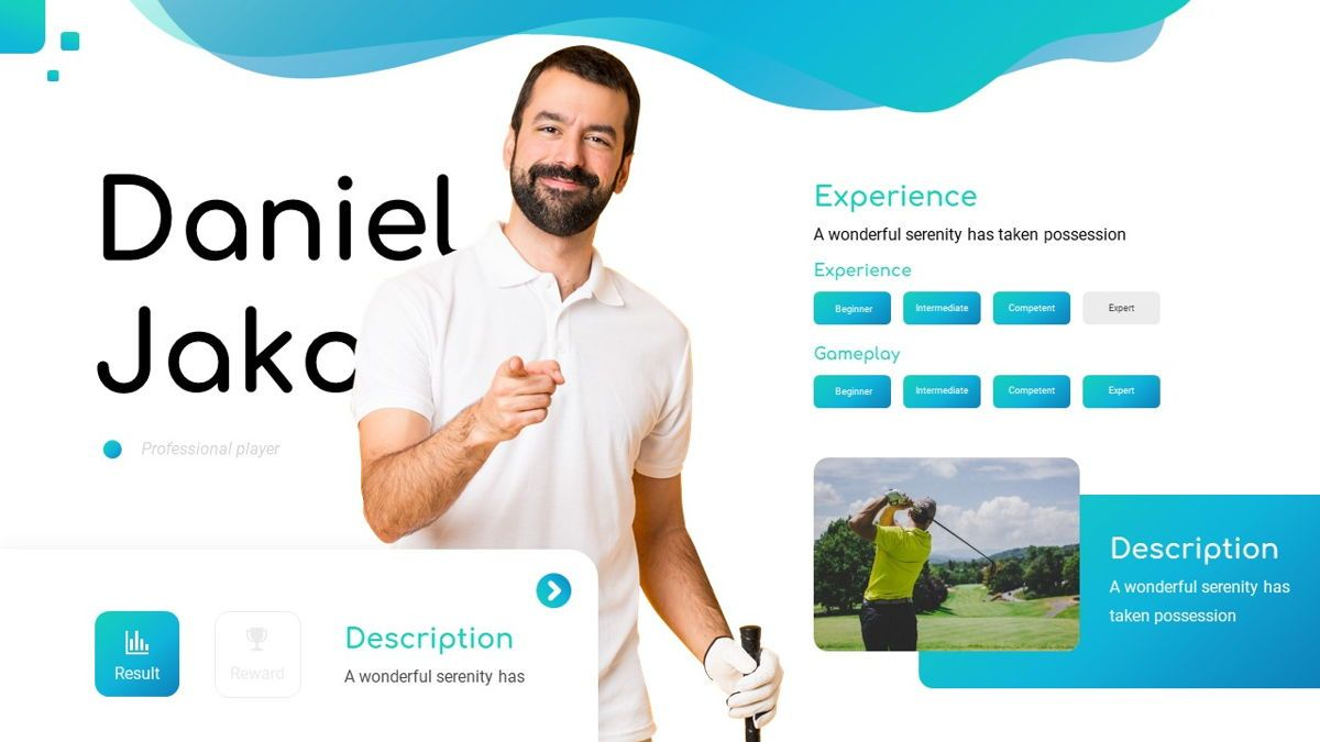Golio - Golf Powerpoint Template, Diapositiva 16, 06090, Diagramas basados en datos — PoweredTemplate.com