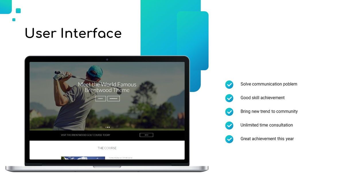 Golio - Golf Powerpoint Template, Diapositiva 19, 06090, Diagramas basados en datos — PoweredTemplate.com