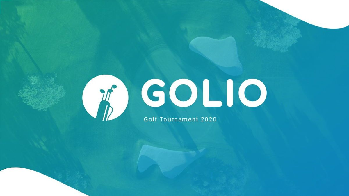 Golio - Golf Powerpoint Template, Diapositiva 2, 06090, Diagramas basados en datos — PoweredTemplate.com