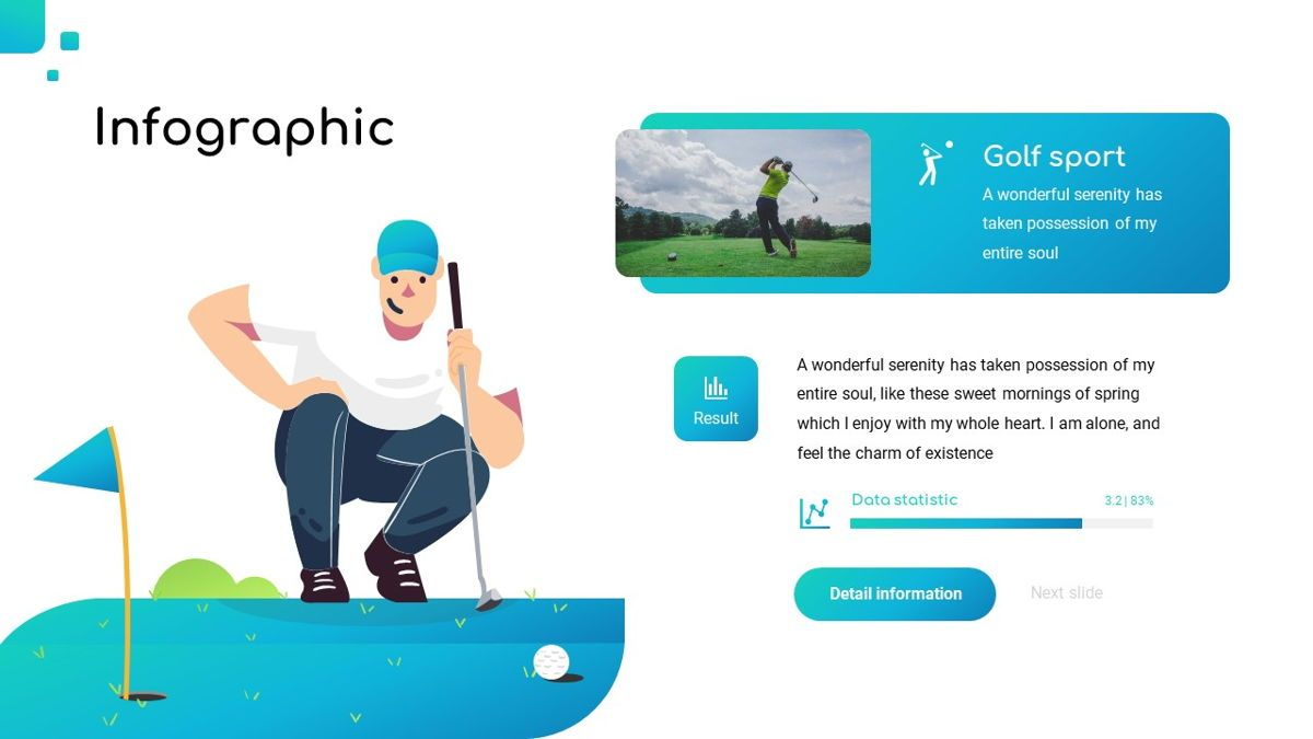 Golio - Golf Powerpoint Template, Diapositiva 24, 06090, Diagramas basados en datos — PoweredTemplate.com