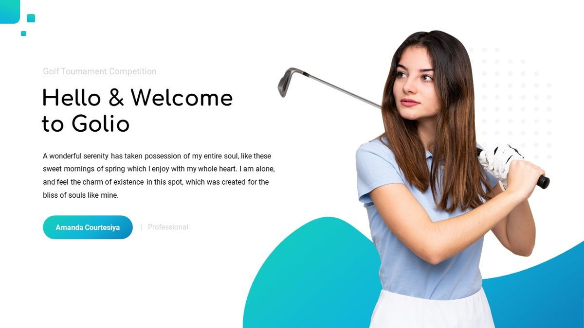 Golio - Golf Powerpoint Template, Diapositiva 3, 06090, Diagramas basados en datos — PoweredTemplate.com