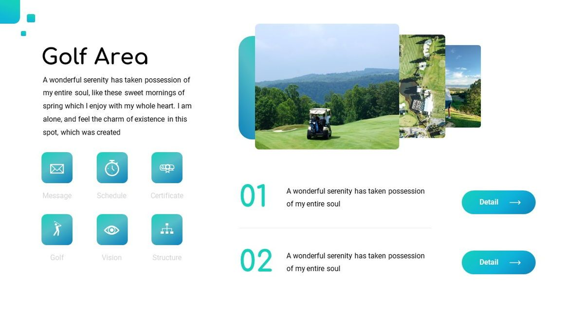 Golio - Golf Powerpoint Template, Diapositiva 7, 06090, Diagramas basados en datos — PoweredTemplate.com