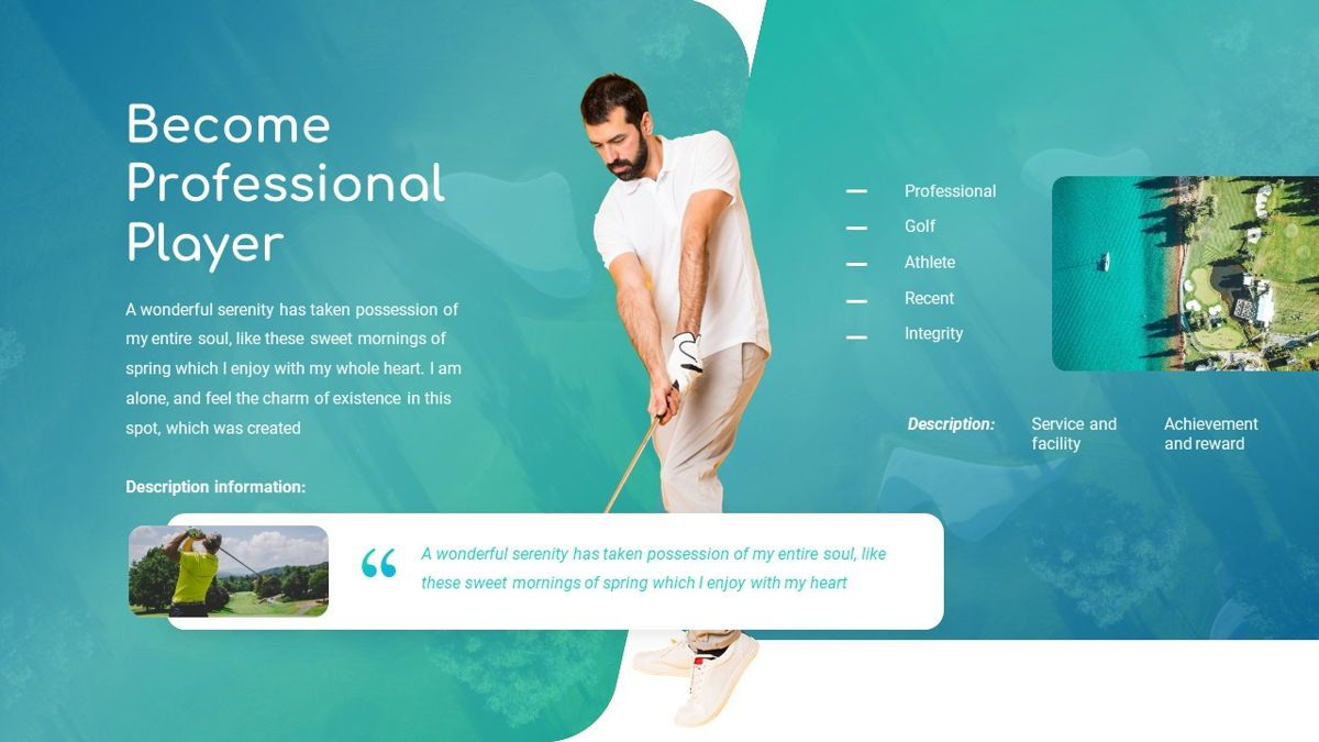 Golio - Golf Powerpoint Template, Diapositiva 8, 06090, Diagramas basados en datos — PoweredTemplate.com