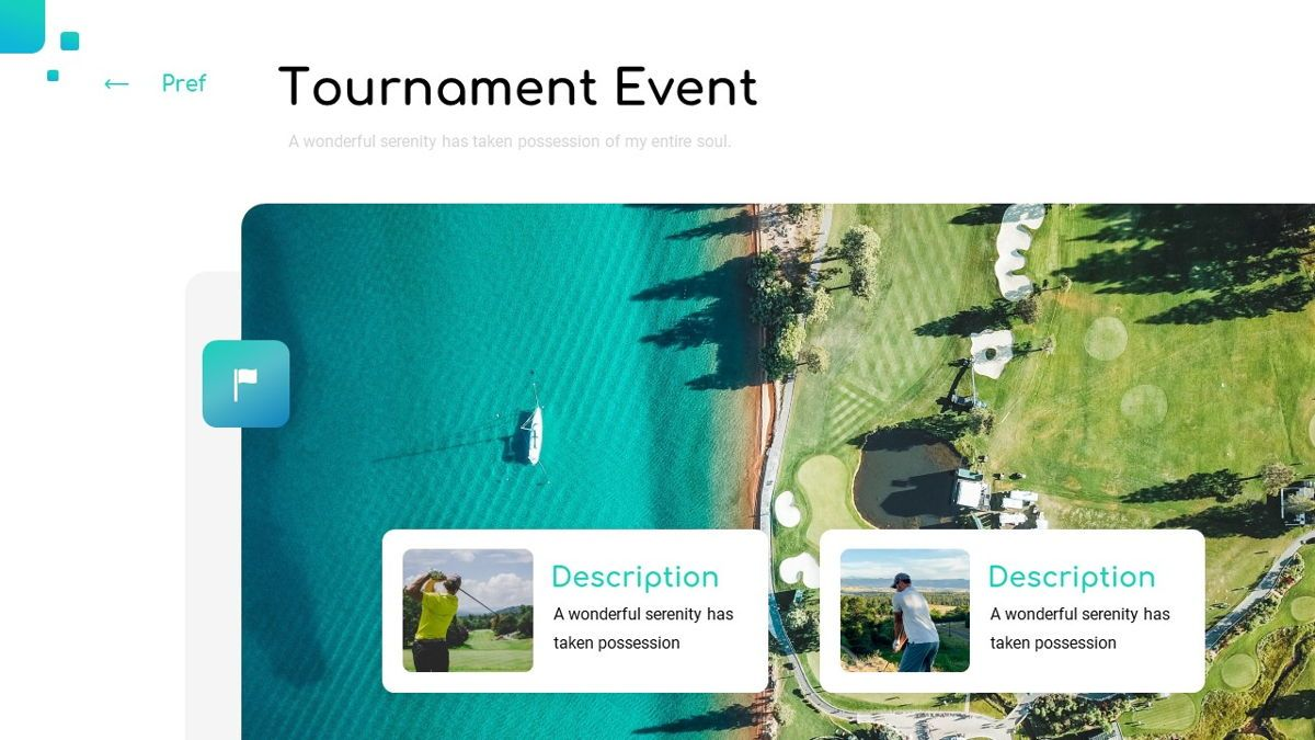 Golio - Golf Powerpoint Template, Diapositiva 9, 06090, Diagramas basados en datos — PoweredTemplate.com