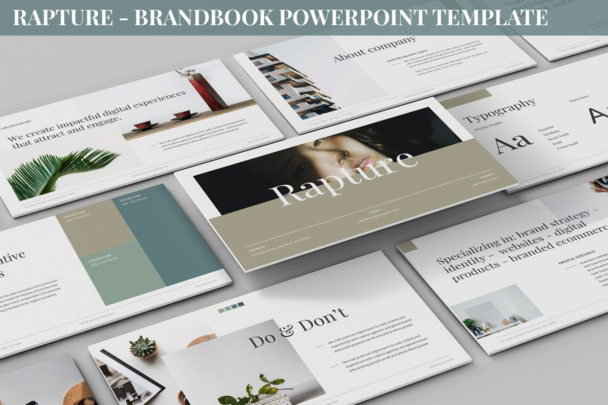 Rapture - Brandbook Powerpoint Template, 06091, Data Driven Diagrams and Charts — PoweredTemplate.com