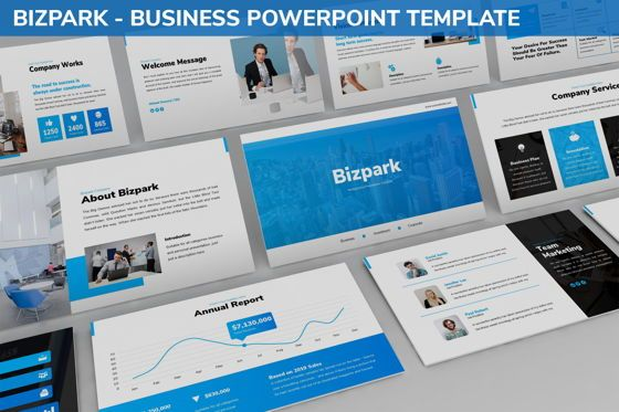 Business Models: Bizpark - Business Powerpoint Template #06092