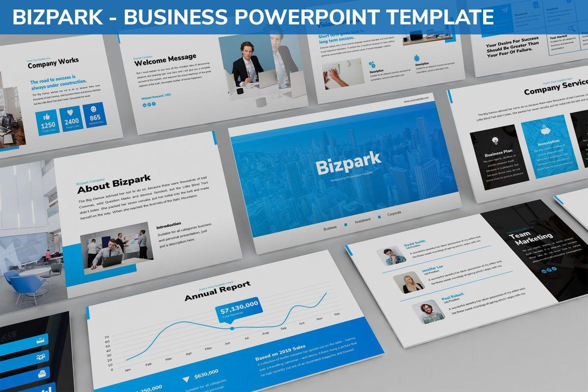 Bizpark - Business Powerpoint Template, 06092, Business Models — PoweredTemplate.com