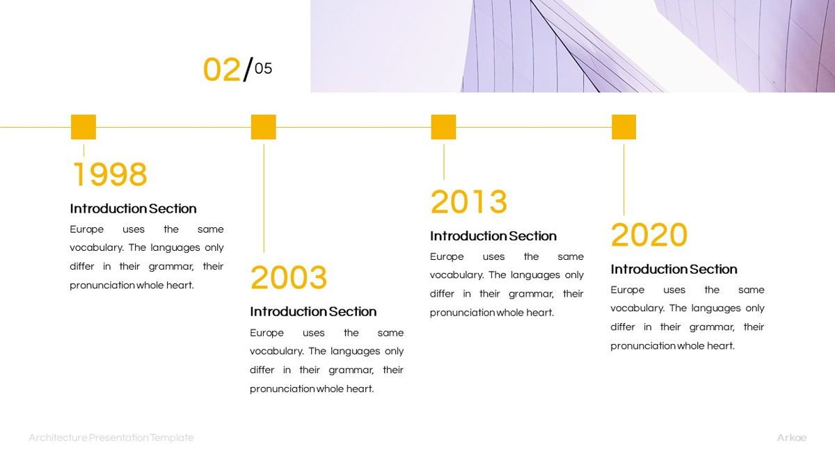 Arkae - Architecture Powerpoint Template, Slide 13, 06093, Data Driven Diagrams and Charts — PoweredTemplate.com